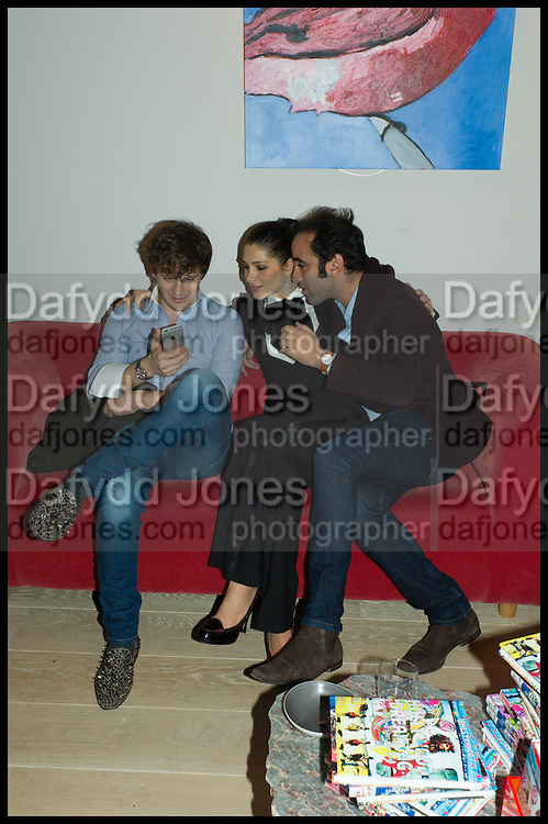 ANDREA-LUCA MINA;  AMALEISA STEVENS: LUCA KHALIL, James Franco exhibition 'Fat Squirrel' at Siegfried Contemporary, Basset Rd, London W10. 23 November 2014.
