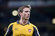 Arsenal Defender, Nacho Monreal (18) during the Premier League match between Bournemouth and Arsenal at the Vitality Stadium, Bournemouth, England on 3 January 2017. Photo by Adam Rivers.