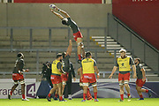 Line out practice before the European Rugby Challenge Cup match between Sale Sharks and Toulouse at the AJ Bell Stadium, Eccles, United Kingdom on 13 October 2017. Photo by George Franks.