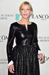 © Licensed to London News Pictures. 13/02/2016. CATE BLANCHETTE attends the BAFTA Lancôme Nominees' Party held at Kensington Palace. London, UK. Photo credit: Ray Tang/LNP