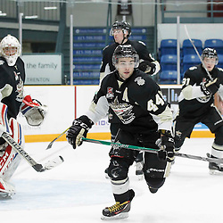 TRENTON, ON - NOV 4:  Nick Boddy #44 of the Trenton Golden Hawks during the OJHL regular season game between the  Pickering Panthers and Trenton Golden Hawks on November 4, 2016 in Trenton, Ontario. (Photo by Amy Deroche/OJHL Images)