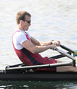 Eton, United Kingdom.  Peter CHAMBERS, competing in the Men's Lightweight Single Sculls  Sat. time trial.  2011 GBRowing Trials, Dorney Lake. Saturday  16/04/2011  [Mandatory Credit; Peter Spurrier/Intersport-images] Venue For 2012 Olympic Regatta and Flat Water Canoe events.