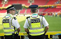 Photo: Chris Ratcliffe.<br />Trinidad & Tobago training session. FIFA World Cup 2006. 14/06/2006.<br />British Transport Police watch T&T in training.