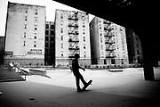 Skate park in South Bronx. New York, 15 june 2010. Christian Mantuano / OneShot