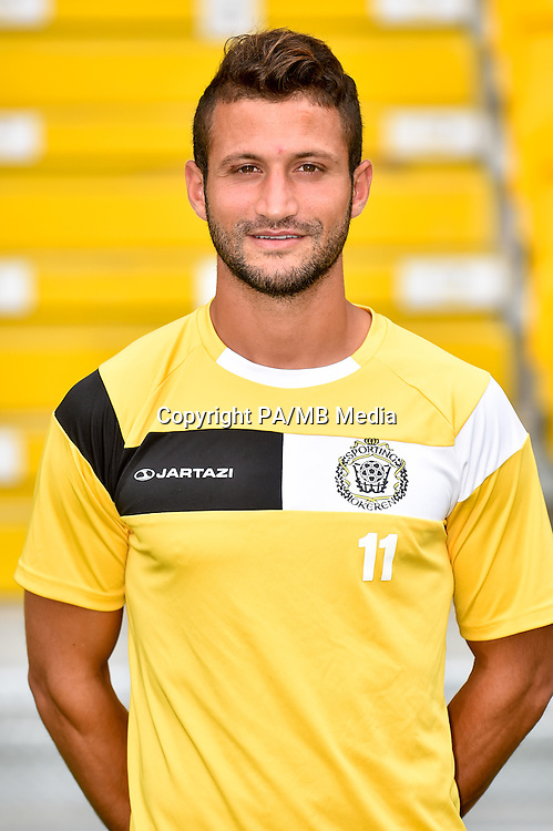 20150626 - LOKEREN, BELGIUM: Lokeren's Mohamed Ghadir pictured during the 2015-2016 season photo shoot of Belgian first league soccer team Sporting Lokeren, Friday 26 June 2015 in Lokeren. BELGA PHOTO LUC CLAESSEN