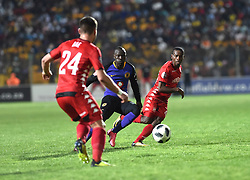 South Africa: Johannesburg: Kaizer Chiefs player Godfrey Walusimbi and Highlands Park player Ryan Rae during the Premier Soccer League (PSL) at Makhulong stadium in Tembisa, Gauteng.<br />02.10.2018<br />Picture: Itumeleng English/African News Agency (ANA)