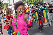 Crowds flock to see the 50th Notting hill carnival on Bank Holiday Monday.