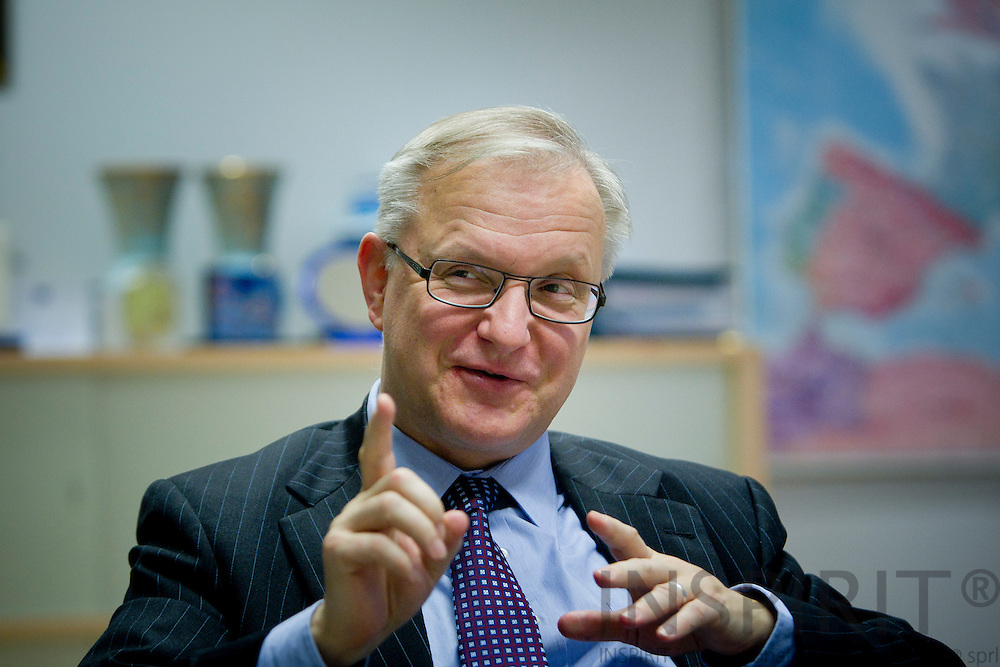 Olli Rehn, Vice-President of the European Commission, during an interview in his office in Brussels on 9 Jaunary 2012. Photo: Erik Luntang