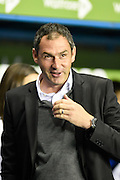 Derby manager Paul Clement during the Sky Bet Championship match between Reading and Derby County at the Madejski Stadium, Reading, England on 15 September 2015. Photo by David Charbit.