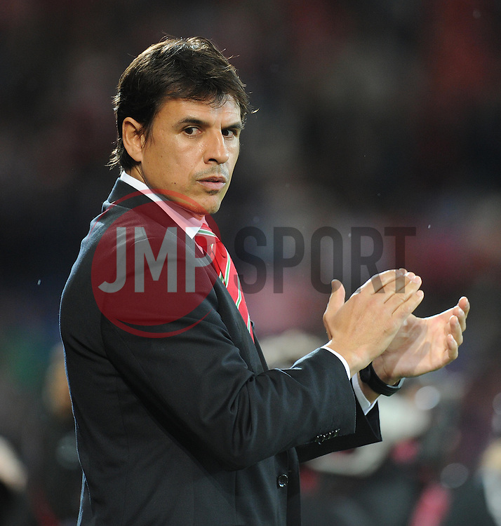 Wales Manger Chris Coleman - Photo mandatory by-line: Alex James/JMP - Mobile: 07966 386802 - 10/10/2014 - SPORT - Football - Cardiff - Cardiff City Stadium - Wales v Bosnia and Herzegovina - EURO 2016 Qualifiers