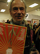 John 'Hoppy' Hopkins. Inspirational Times, rock Art from Beat to Punk via Psychedelia. Sotheby's. Olympia. 6 January 2002. © Copyright Photograph by Dafydd Jones 66 Stockwell Park Rd. London SW9 0DA Tel 020 7733 0108 www.dafjones.com