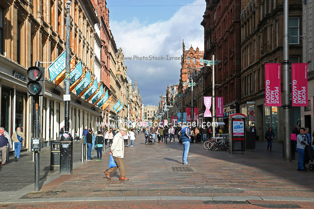 Glasgow, Scotland, Buchanan street.