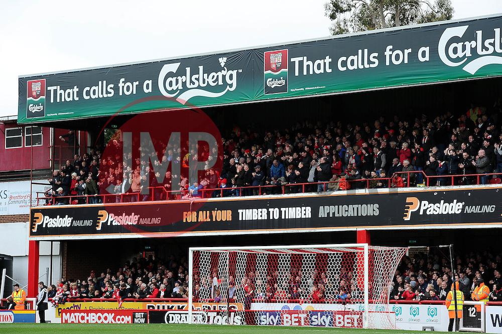 Bristol City fans away at Brentford - Mandatory by-line: Dougie Allward/JMP - 16/04/2016 - FOOTBALL - Griffin Park - Brentford, England - Brentford v Bristol City - Sky Bet Championship