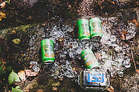 Forest fairies left us a gift on the Craigwood Trails. After riding for a few hours we stumbled upon a stash of beer on ice, Lake Placid, New York.