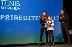 Slovenian Tennis personality of the year 2017 annual awards presented by Slovene Tennis Association Tenis Slovenija, on November 29, 2017 in Siti Teater, Ljubljana, Slovenia. Photo by Vid Ponikvar / Sportida