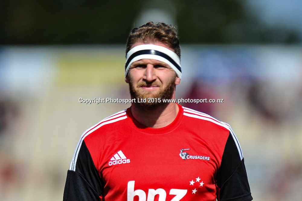 Kieran Read of the Crusaders warming up during the Super Rugby match: Crusaders v Lions at AMI Stadium, Christchurch, New Zealand, 14 March 2015. Copyright Photo: John Davidson / www.Photosport.co.nz