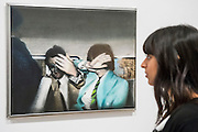 A retrospective of Pop-art pioneer Richard Hamilton opens at the Tate this week. He was widely regarded as the founding figure of Pop art, and this exhibition presents over 60 years of work from 1950s installations to his final paintings of 2011. Major works include: Fun House – An immersive Pop installation featuring a jukebox and blown-up images from Hollywood movies, science-fiction and advertising;  Swingeing London (pictured) – An iconic image of Mick Jagger following his arrest on drugs charges in 1967; and his final work – A triptych of computer-aided images printed onto canvas, inspired by the Italian Renaissance masters. Tate Modern, London, UK 11 Feb 2014.