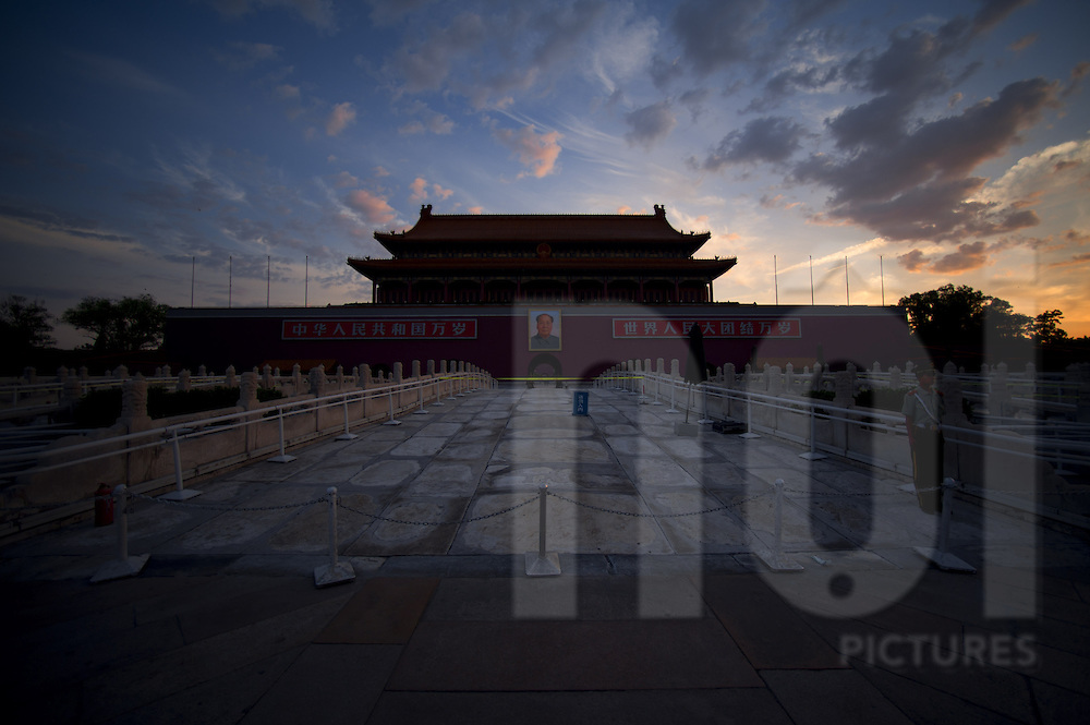 Entrance of the Forbidden City at sunrise, Beijing, China