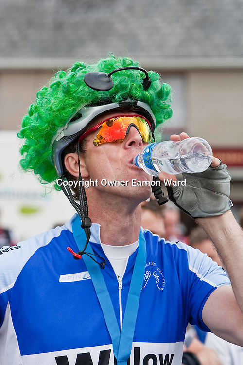 Carl Egan,Dublin cooling down after  the Etap Hibernia Sky Ride in Ennis on Sunday. Photograph by Eamon Ward