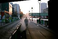 Canal steam man, Paris