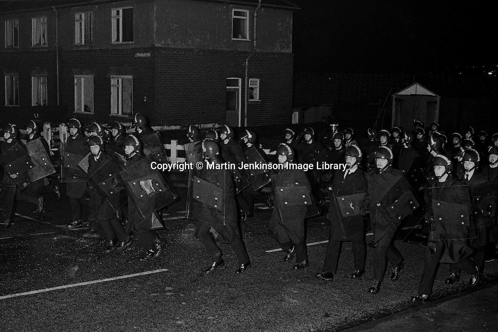 1984-85 Miners Strike..© Martin Jenkinson, tel 0114 258 6808 mobile 07831 189363 email martin@pressphotos.co.uk. Copyright Designs & Patents Act 1988, moral rights asserted credit required. No part of this photo to be stored, reproduced, manipulated or transmitted to third parties by any means without prior written permission