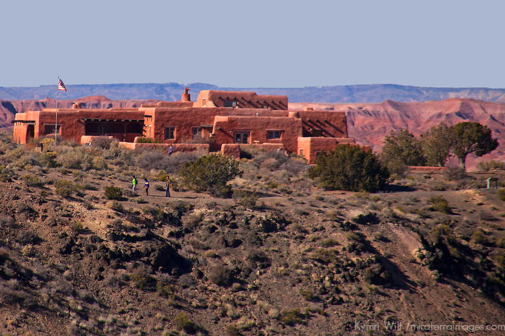 North America, USA, Arizona, Painted Desert. Painted Desert Inn, a historic stop on Route 66.