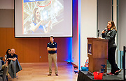 Alumni attend coaches tip-off event in the Hemmingson Center Ballroom. (GU photo by Gavin Doremus)