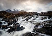 SCOTLAND - CIRCA APRIL 2016: The Sligachan Waterfalls in Skye an Island in Scotland