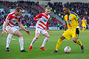 Crystal Palace forward Jordan Ayew (14) during the The FA Cup 5th round match between Doncaster Rovers and Crystal Palace at the Keepmoat Stadium, Doncaster, England on 17 February 2019.