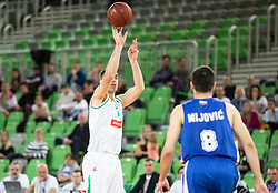 Drazen Bubnic of Petrol Olimpija during basketball match between KK Petrol Olimpija and KK Rogaska in Round #5 of Liga Nova KBM za prvaka 2018/19, on March 31, 2019, in Arena Stozice, Ljubljana, Slovenia. Photo by Masa Kraljic / Sportida