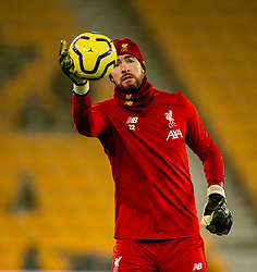 WOLVERHAMPTON, ENGLAND - Thursday, January 23, 2020: Liverpool's goalkeeper Andy Lonergan during the pre-match warm-up before the FA Premier League match between Wolverhampton Wanderers FC and Liverpool FC at Molineux Stadium. (Pic by David Rawcliffe/Propaganda)