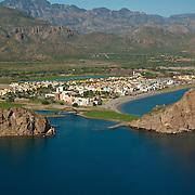 Aerial photo of Loreto. Baja California Sur, Mexico.
