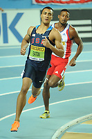 ATHLETICS - WORLD CHAMPIONSHIPS INDOOR 2012 - ISTANBUL (TUR) 09 to 11/03/2012 - PHOTO : STEPHANE KEMPINAIRE / KMSP / DPPI - <br /> HEPTATHLON - MEN - FINALE - GOLD MEDALE - ASHTON EATON (USA)