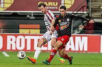 ROTTERDAM - Excelsior - Willem II , Voetbal , Eredivisie , Seizoen 2016/2017 , Stadion Woudestein , 25-02-2017 , Willem II speler Erik Falkenburg (l) in duel met Excelsior speler Hicham Faik (r)