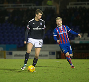 30th January 2018, Tulloch Caledonian Stadium, Inverness, Scotland; Scottish Cup 4th round replay, Inverness Caledonian Thistle versus Dundee; Dundee's Jack Hendry and Inverness Caledonian Thistle's Connor Bell