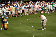 Jul 31, 2005; Grand Blanc, MI, USA; John Daly hits his approach shot on teh second hole during final round play at the 2005 Buick Open at the Warwick Hills Golf and Country Club. Copyright © 2005 Kevin Johnston