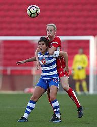Millie Turner of Bristol City Women battles for the ball with Brooke Chaplen of Reading Women - Mandatory by-line: Gary Day/JMP - 22/04/2017 - FOOTBALL - Ashton Gate - Bristol, England - Bristol City Women v Reading Women - FA Women's Super League 1 Spring Series