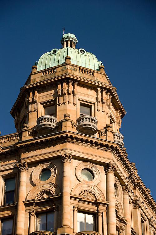 Building in city center, Glasgow, Scotland, UK