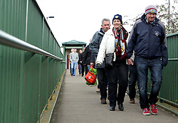 Burnley fans arrive at St Mary's - Photo mandatory by-line: Robbie Stephenson/JMP - Mobile: 07966 386802 - 21/03/2015 - SPORT - Football - Southampton - ST Marys Stadium - Southampton v Burnley - Barclays Premier League