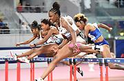 Danielle Williams (JAM) wins the women's 100m hurdles in 12.66 during the IAAF Doha Diamond League 2019 at Khalifa International Stadium, Friday, May 3, 2019, in Doha, Qatar