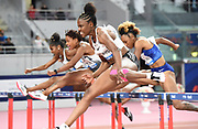 Danielle Williams (JAM) wins the women's 100m hurdles in 12.66 during the IAAF Doha Diamond League 2019 at Khalifa International Stadium, Friday, May 3, 2019, in Doha, Qatar