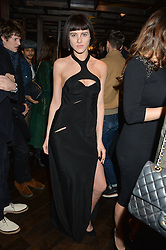 ELIZA CUMMINGS at a birthday party for Kyle De'Volle hosted by Rita Ora at Bo Lang, 100 Draycott Avenue, London SW3 on 29th November 2013.