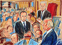 COPYRIGHT PRISCILLA COLEMAN ITV ARTIST 15.09.03.PICTURE SHOWS: GREG DYKE, CHAIRMAN OF BBC GIVING EVIDENC3E AT THE HIGH COURT IN LONDON TO THE KELLY INQUIRY.