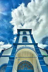Igreja Nossa Senhora dos Navegantes na praça principal da Vila Itapuã, localizada na cidade de Viamão. Com sua rua principal de paralelepípedos, conserva ainda, as características de um povoado acolhedor e tranqüilo. Pode-se passear por suas ruas, observar os barcos dos pescadores atracados ao longo do arroio e caminhar na praia de Itapuã.  FOTO: Jefferson Bernardes/Preview.com