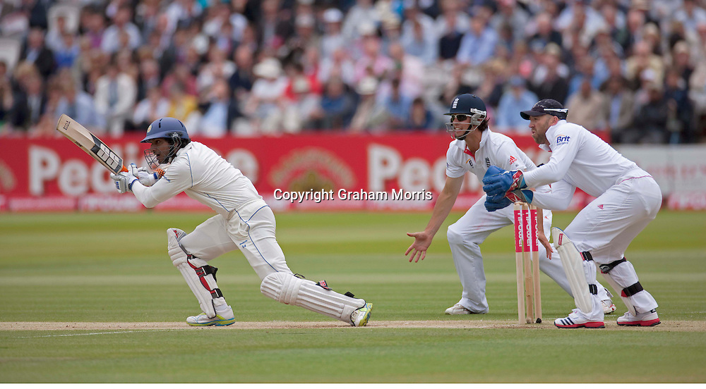 Kumar Sangakkara bats during the second npower Test Match between England and Sri Lanka at Lord's.  Photo: Graham Morris (Tel: +44(0)20 8969 4192 Email: sales@cricketpix.com) 05/06/11