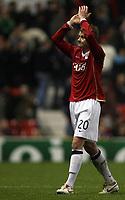 Photo: Paul Thomas.<br /> Manchester United v FC Copenhagen. UEFA Champions League, Group F. 17/10/2006.<br /> <br /> Ole Gunnar Solsjkaer of Man Utd.