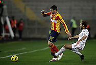 Lecce (LE), 16-01-2011 ITALY - Italian Soccer Championship Day 20 -  Lecce - Milan..Pictured: Flamini (M) - Tomovic (L).Photo by Giovanni Marino/OTNPhotos . Obligatory Credit