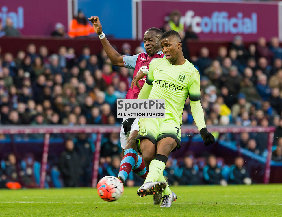 Manchester City forward Kelechi Iheanacho (72) scores to give his side a 3-0 lead in the FA cup 4th Round game between Aston Villa and Manchester City<br /> <br /> (c) John Baguley | SportPix.org.uk