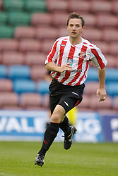 Widnes, England - Tuesday, September 4, 2007: Sunderland's David Connolly in action against Everton during the Premier League Reserve match at the Halton Stadium. (Photo by David Rawcliffe/Propaganda)