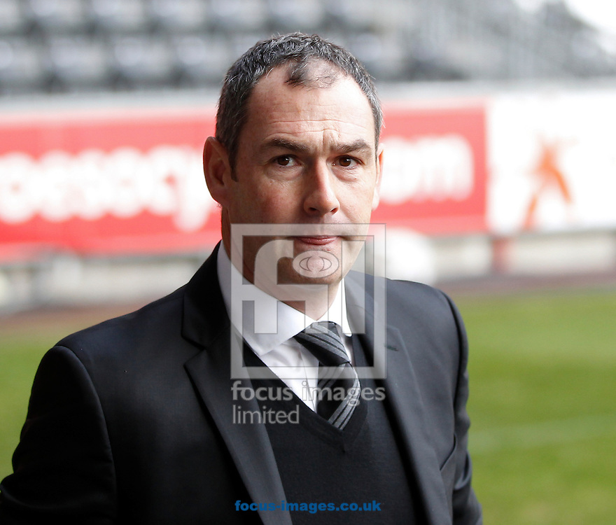 Head Coach, Paul Clement of Swansea City arriving for the Premier League match at the Liberty Stadium, Swansea<br /> Picture by Mike Griffiths/Focus Images Ltd +44 7766 223933<br /> 14/01/2017